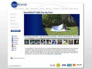 "<a href=""http://www.spotbrands.com""><b>SpotBrands QuickPitch Tent</b></a>"