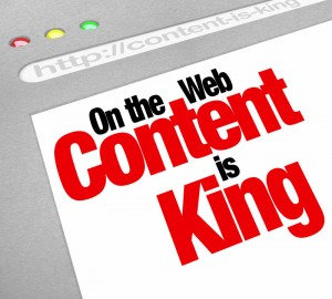 On the web content is king